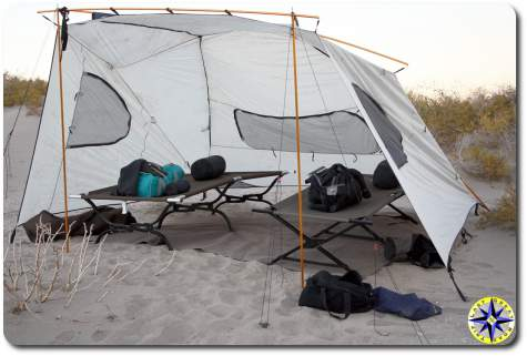 Bahia de los Angeles base camp tent