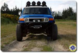 toyota fj cruiser metal tech tube bumper total chaos long travel