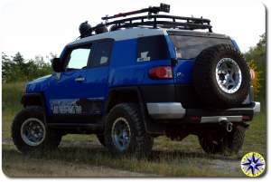 voodoo blue fj cruiser walker evens beadlock wheels