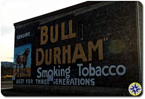 Bull Durham building sign art