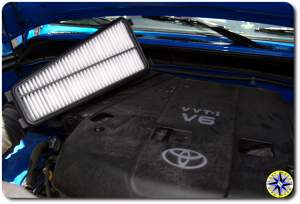 fj cruiser engine air filter in air box