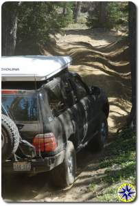 toyota land cruiser 4x4 trail hill climb
