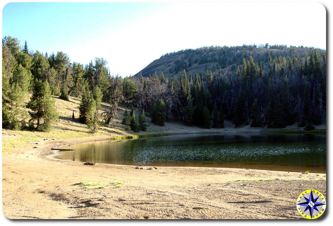 blue lake from camp site