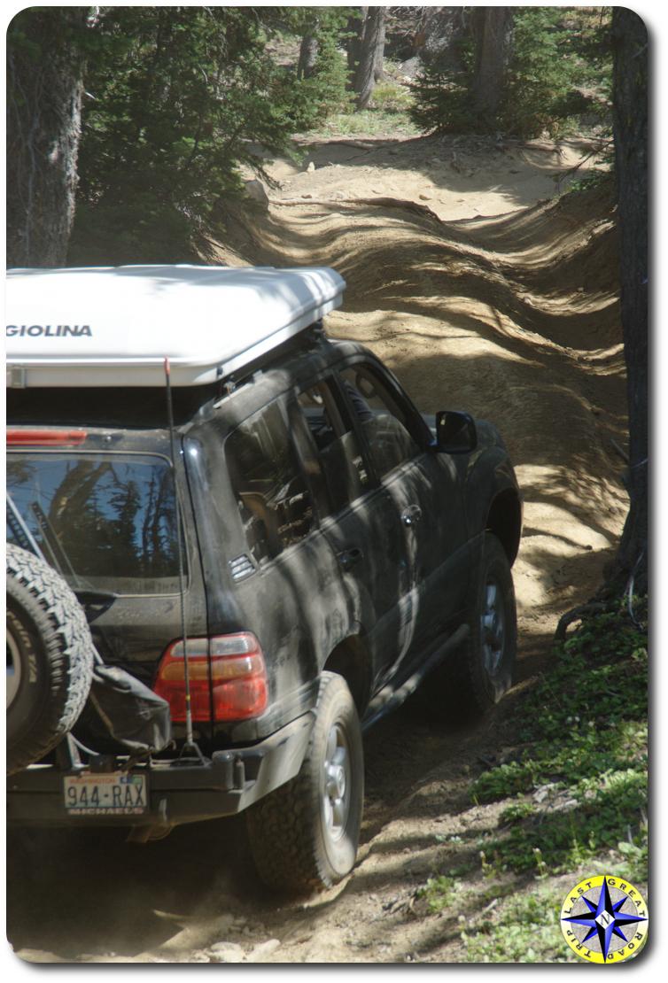 toyota land cruiser 4x4 trail hill climb