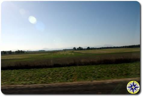 farm land along I5
