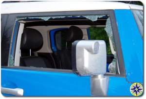 broken fj cruiser passanger window