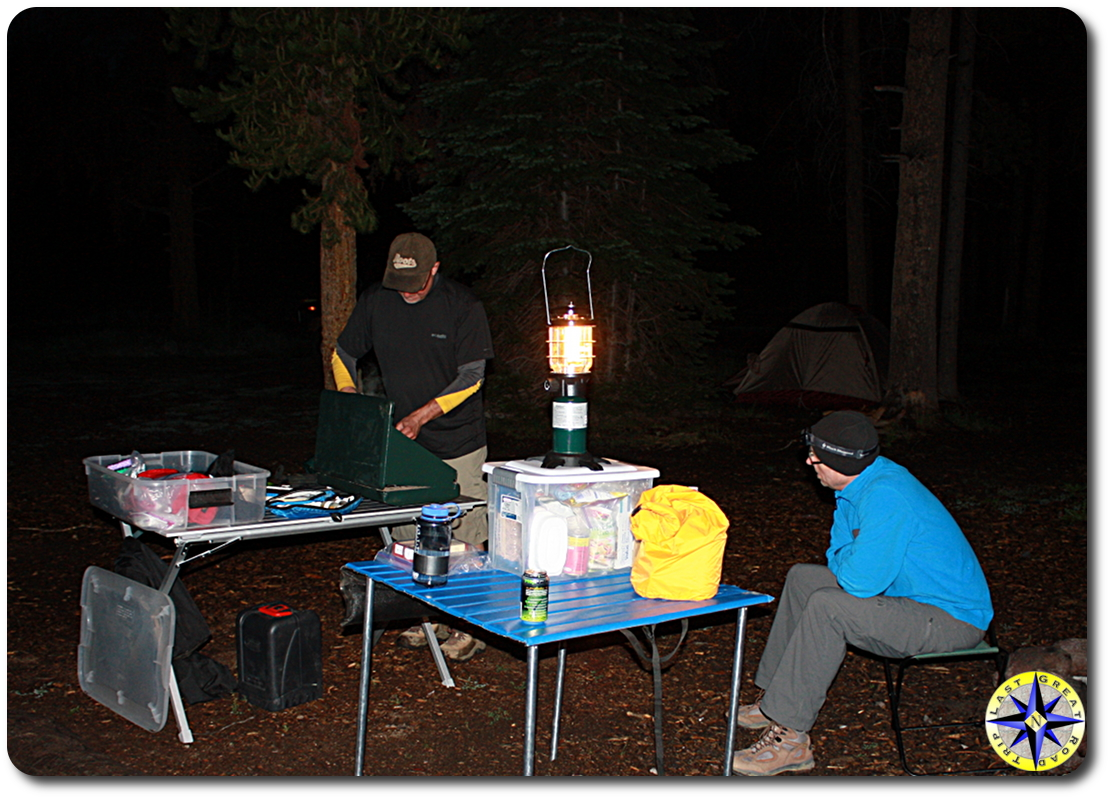night camp cooking