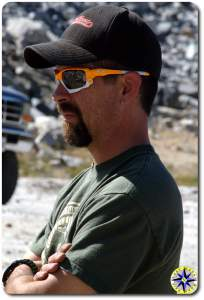head shot profile man hat sunglasses- Frank