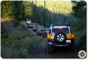 fj cruisers power Line tillamook forest