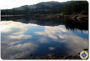 loon lake reflection rubicon trail