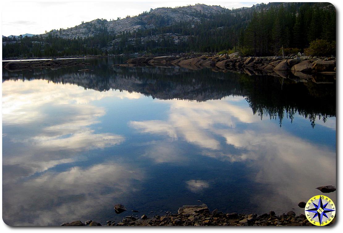 loon lake reflection rubicon trail