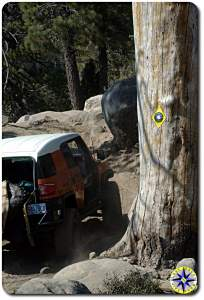 fj cruiser rubicon trail sign