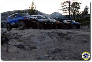 fj cruisers rubicon trail lookout