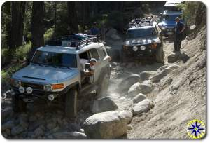 toyota fj cruisers big sluice rubicon trail