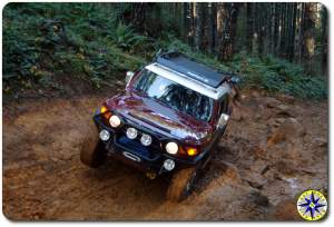 marron fj cruiser hogs back tillamook forest