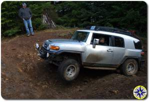 silver fj cruiser hogs back tillamook forest