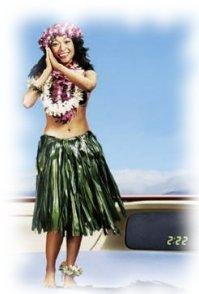 dashboard hula girl
