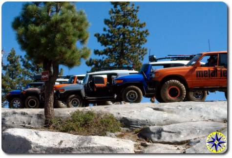 toyota fj cruisers and toyota fj80 rubicon trail