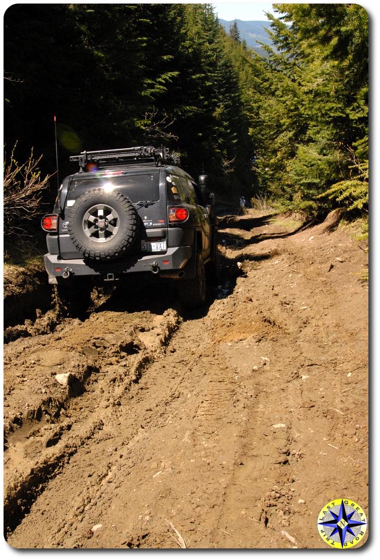 black trd fj cruiser mud