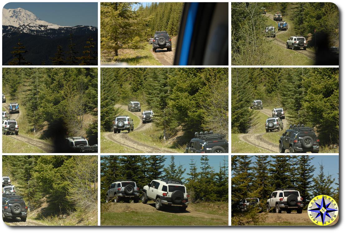 fj cuirsers 4x4 trail green water washington