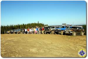 fj cruisers and owners lined up