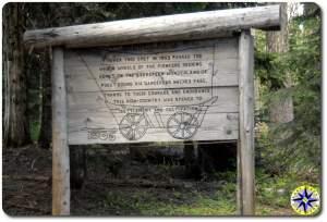 historical naches wagon trail sign