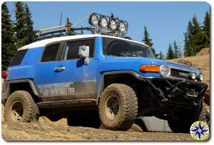 voodoo blue toyota fj cruiser metal tech bumper