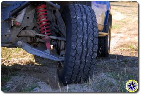 fj cruiser total chaos long travel falken rockie mountain tire