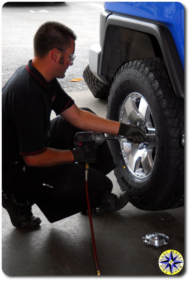 tightening lugnut on new tires