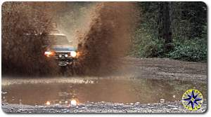 fj cruiser wall of muddy water