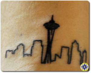 seattle sky line tattoo