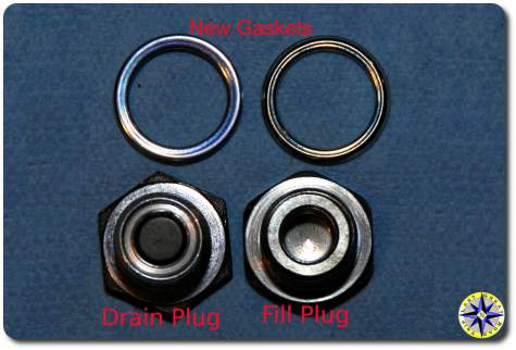 toyota cleaned differential drain and fill plugs