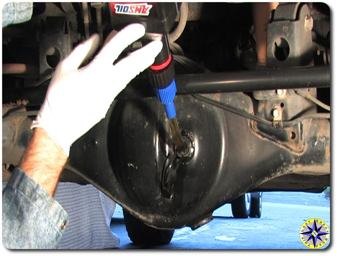 toyota fj cruiser adding rear differential oil