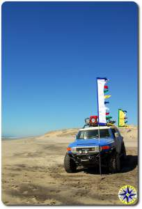 fj cruiser prayer flags mexico beach