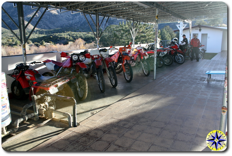 motorcycle line at mikes sky rancho