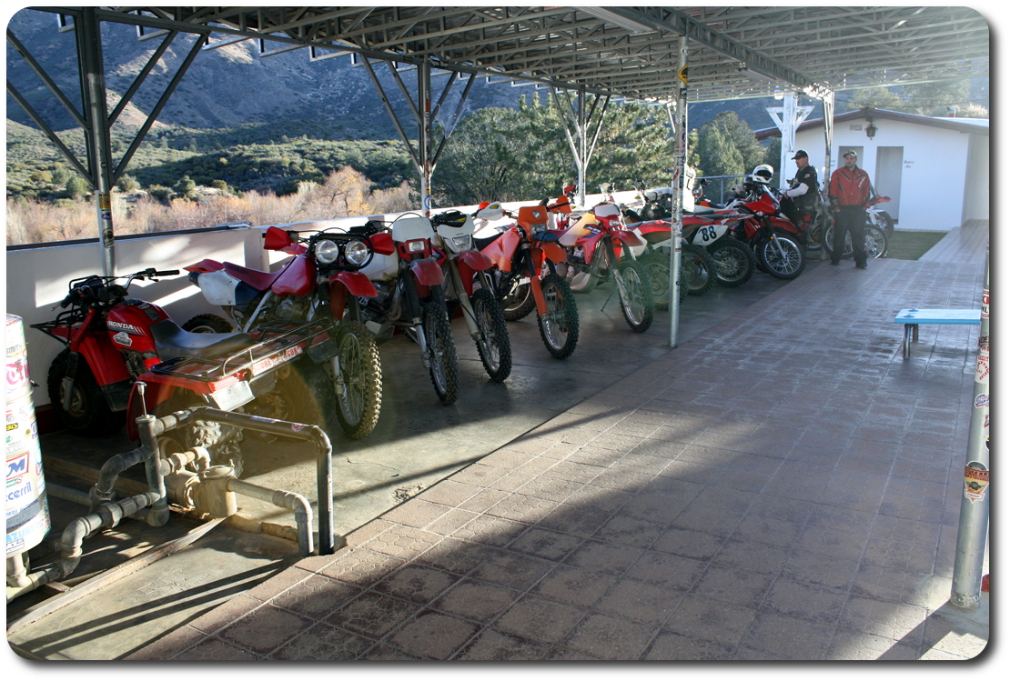 motorcycle line at mikes sky ranch