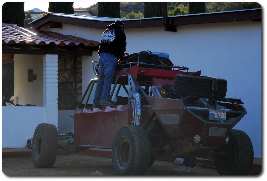 buggy in front of mikes sky ranch