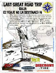 baja mexico off road adventure poster