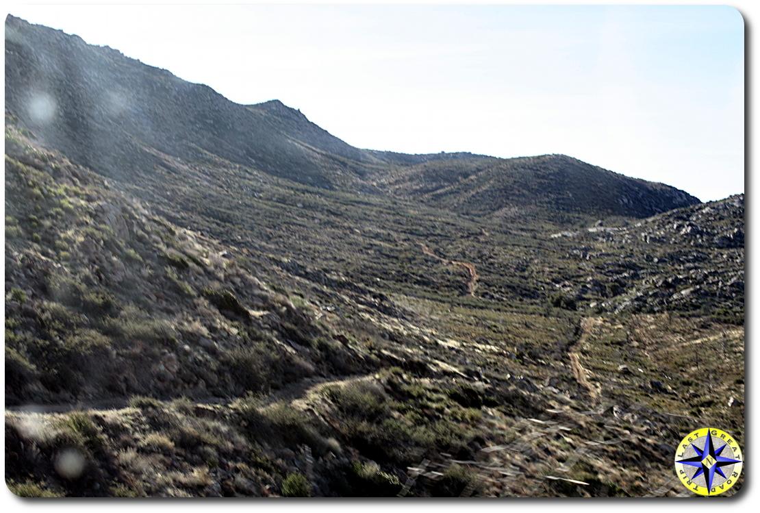 baja road through hills