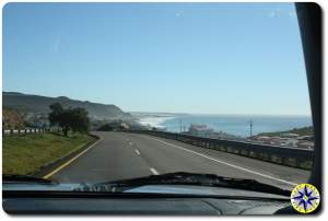 ensenada coast view from car