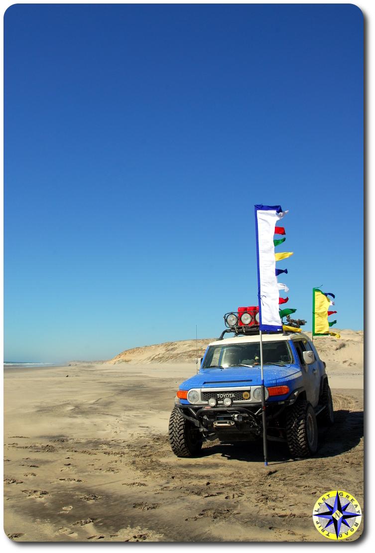 fj cruiser prayer flags mexico beach