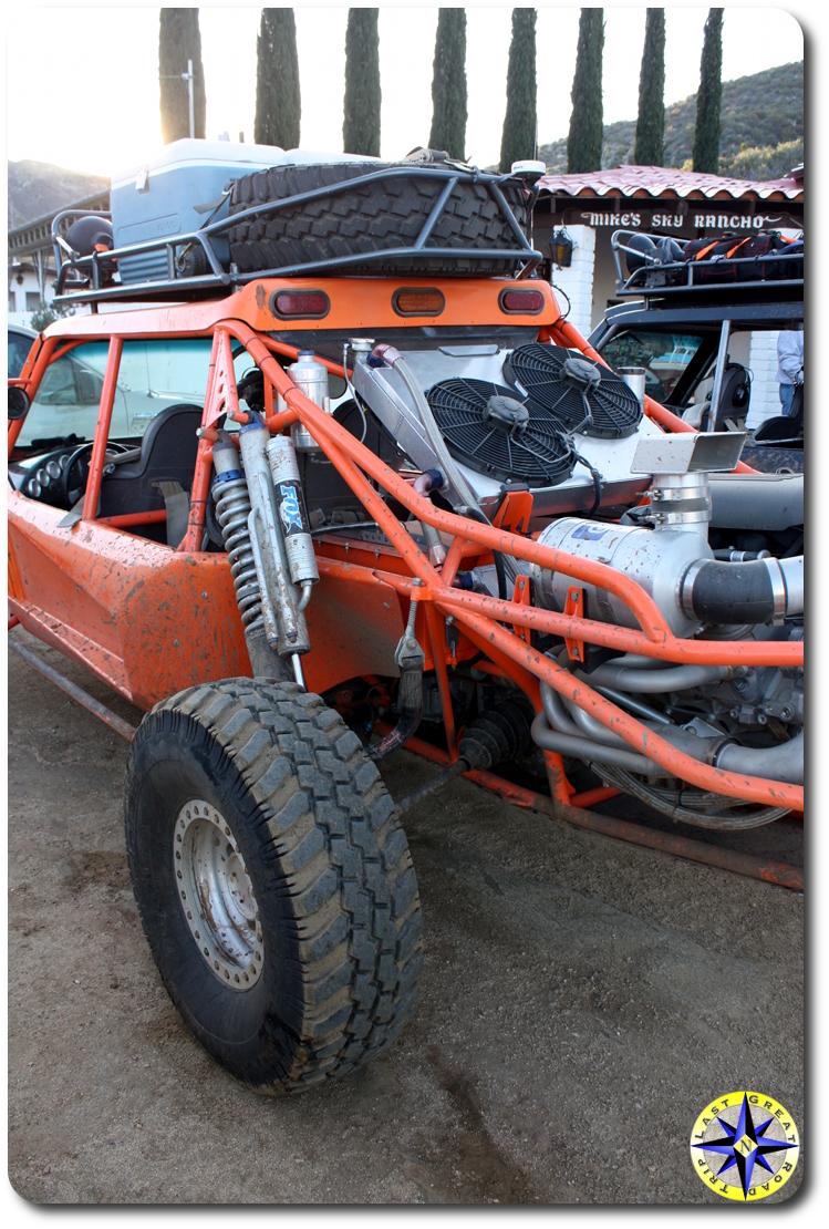 orange unlimited open wheel racer buggy