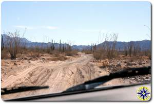 baja mexico mountains dirt road