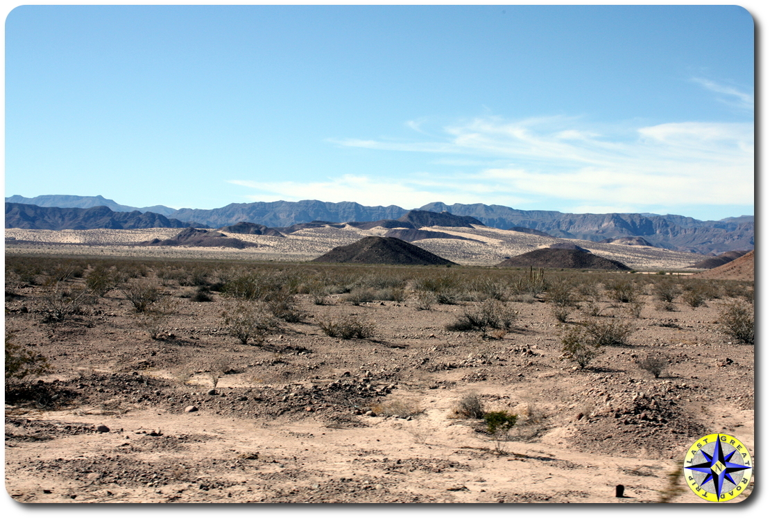 baja mexico desert hills and mountains