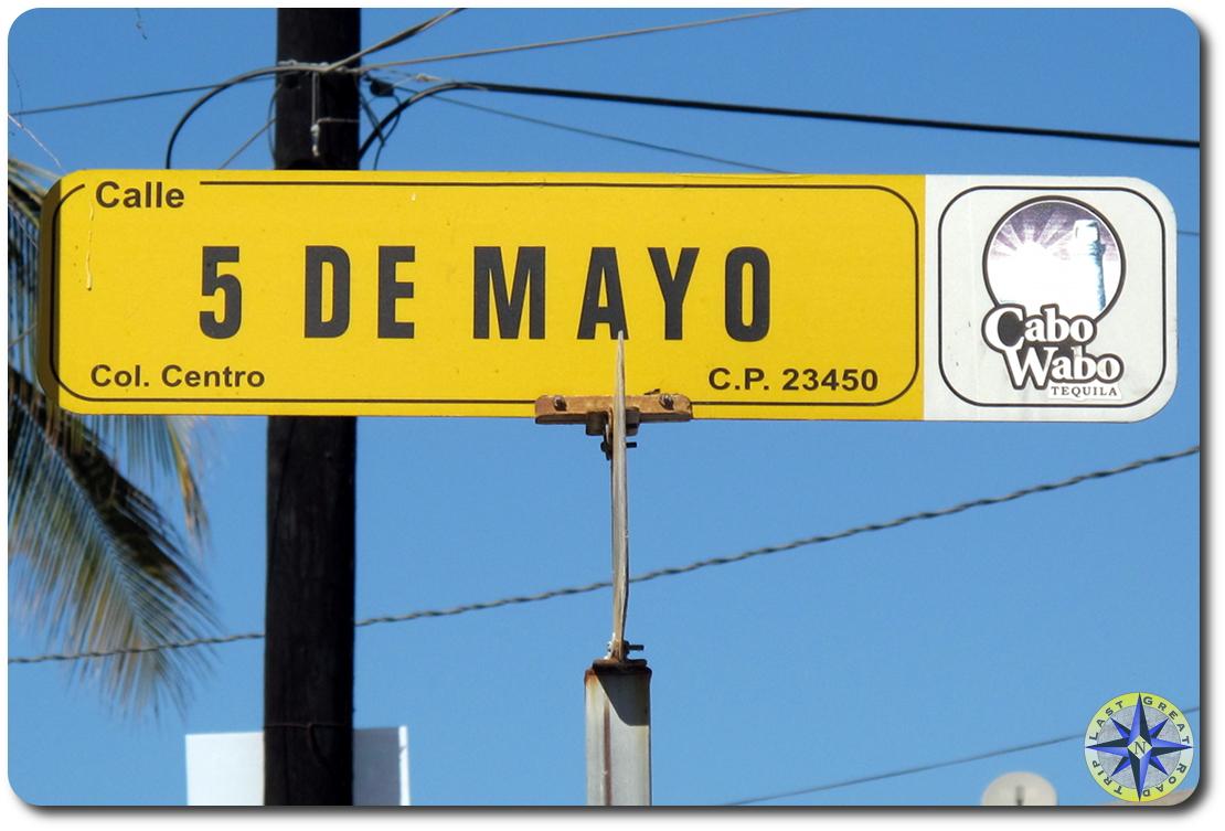 cinco de mayo street sign