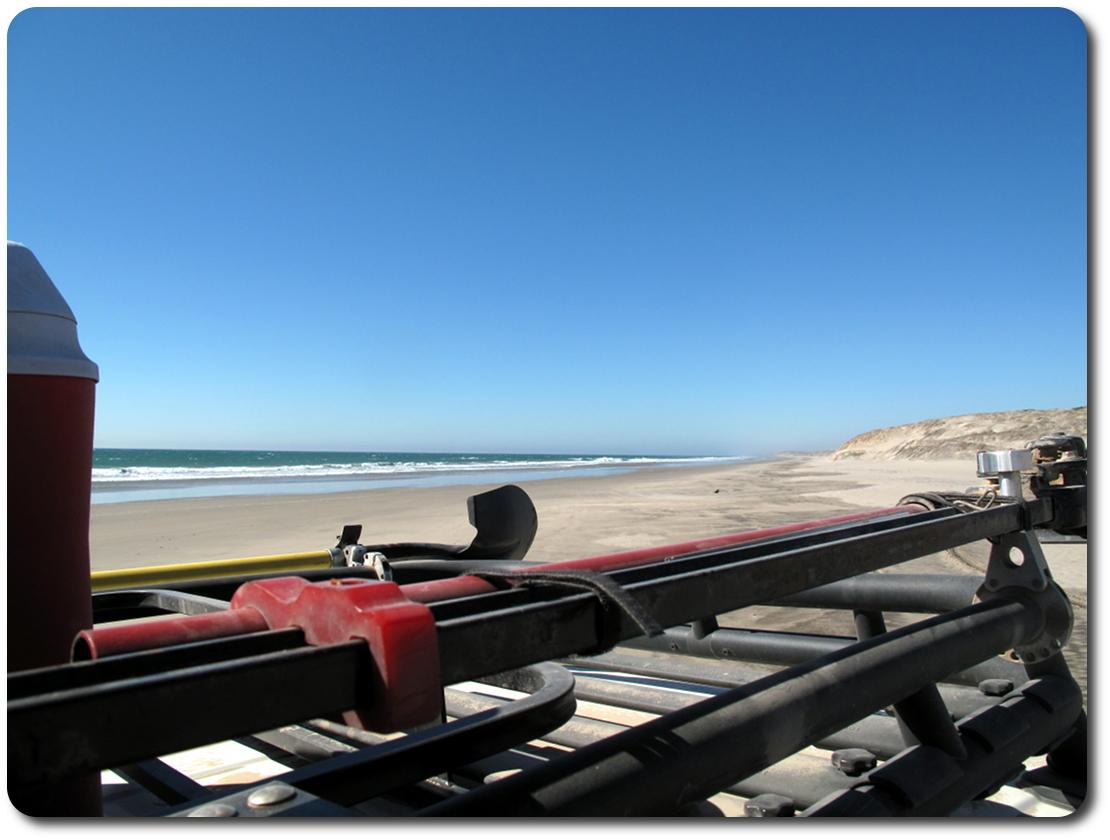 baja beach from FJ Cruiser roof top