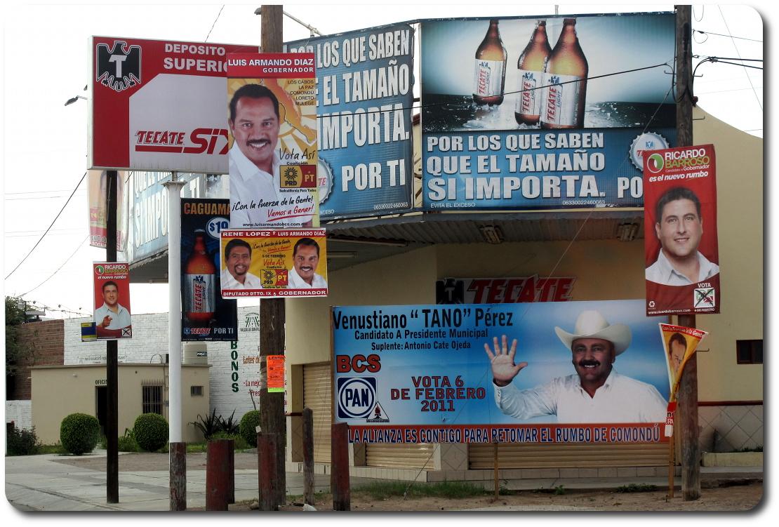 baja election signs