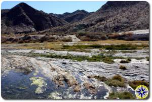 baja mexico desert stream