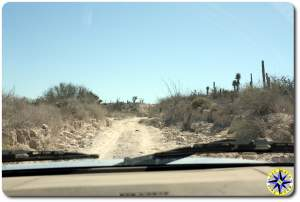 baja mexico dirt road view