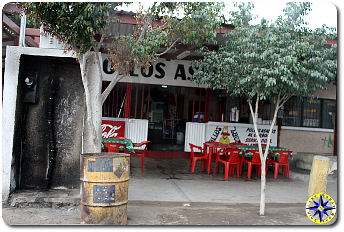 baja mexico red cafey chairs and tables